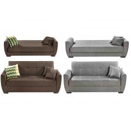 Sofá cama modelo Burdeos, sistema apertura Click-Clack