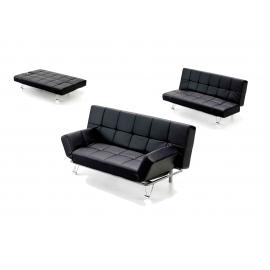 Sofá cama polipiel modelo Polo, sistema apertura Click-Clack
