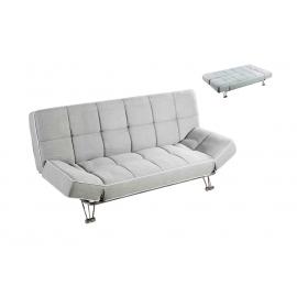 Sofá cama tela modelo Polo, sistema apertura Click-Clack