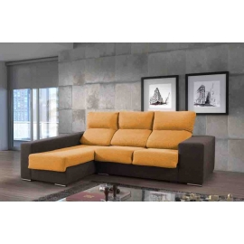 Chaise longue de 2,35 m Mac-Polar con cabezales reclinables