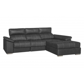 Chaise longue de 3 m Nieves-Indiana con 2 relax motor