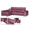 Chaise longue de 2,80  m Lotus -Nido con cabezales reclinables