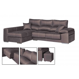 Chaise longue de 2,80  m Lotus -Indiana con cabezales reclinables