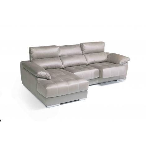 Chaise longue de 2,31 m Loft -Diamond con cabezales reclinables