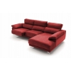 Chaise longue de 2,30 m Freedon-Bianca con cabezales reclinables
