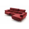 Chaise longue de 2,30 m Freedon-Bianca con cabezales reclinables
