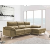 Chaise longue de 2,30 m Freedon-Piano con cabezales reclinables